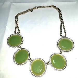 Banana Republic Necklace Lg green Chunky stmt